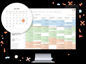 Agenda Online com calendário