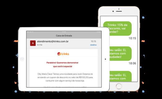 SMS e Email Marketing Beleza